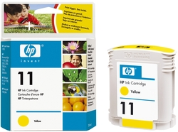 Original HP Tintenpatrone gelb (C4838AE,11,11Y,11YELLOW,NO11,NO11Y,NO11YELLOW)