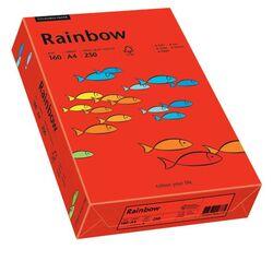 Rainbow Intensiv - A4, 160 g/qm, intensivrot, 250 Blatt