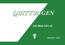 Quittung A6 quer 100 Blatt