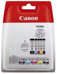Original Canon Tintenpatrone MultiPack 2x Bk + 1x C,M,Y PGI+CLI (0372C004,0372C004AA,372C004,372C004AA,570571,PGI-570CLI-571)