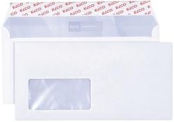 Elco Briefumschlag premium, C5/6, 229x114 mm, hochweiß, haftklebend, Innendruck, mit Fenster, 80g