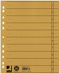 Q-Connect Trennblätter durchgefärbt - A4 Überbreite, gelb, 100 Stück