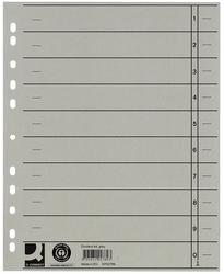 Q-Connect Trennblätter durchgefärbt - A4 Überbreite, grau, 100 Stück