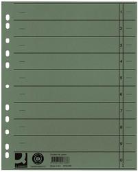 Q-Connect Trennblätter durchgefärbt - A4 Überbreite, grün, 100 Stück