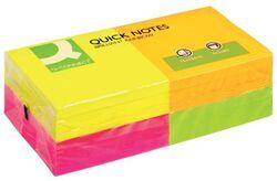 Q-Connect Haftnotizen Quick Notes - Brilliantfarben, 75 x 75 mm