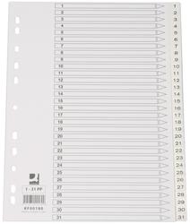 Q-Connect Zahlenregister - 1 - 31, PP, A4, 31 Blatt, weiß
