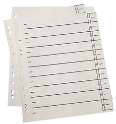 Trennblätter - A4 Überbreite, 190 g/qm Karton, Lochrand verstärkt, chamois, 100 Stück