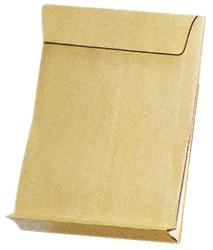 Elepa - rössler kuvert Faltentaschen E4, ohne Fenster, mit 40 mm-Falte und Klotzboden, 140 g/qm, braun, 100 Stück
