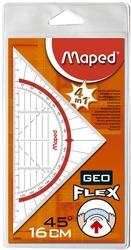 Maped Geo-Dreieck Flex - 16cm, transparent, Etui