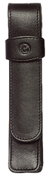 Pelikan Schreibgeräte-Etui TG11, 20 x 20 x 130 mm, Rindnappa-Leder, schwarz
