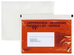 Docufix Begleitpapiertaschen mit Aufdruck Lieferschein - Rechnung, C6, 250 Stück