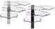 Novus® Belegefach CopySwinger III - anthrazit Schalenset, B4, 3 Stück, Kunststoff
