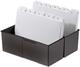 Karteibox DIN A7 quer, für 300 Karten mit Stahlscharnier, schwarz