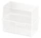 HAN Karteibox DIN A7 quer - für 300 Karten mit Stahlscharnier, transluzent-klar
