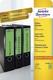 Avery Zweckform® L4768-20 Ordner-Etiketten - breit/kurz, (A4 - 20 Blatt) 80 Stück, grün