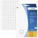 Herma 2310 Vielzwecketiketten - weiß, 8x12 mm, matt, 3840 Stück