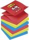 Post-it® SuperSticky Haftnotiz Z-Notes Bora Bora Collection - 76x76mm, 6 x 90 Blatt