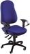 Bürodrehstuhl Support® SY ohne Armlehnen royalblau