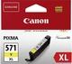 Original Canon Tintenpatrone gelb (0334C001,0334C001AA,334C001,334C001AA,571YXL,CLI-571XLY,CLI-571YXL)