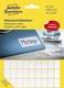 3312 Mini-Organisations-Etiketten, 18 x 12 mm, 25 Blatt/1.800 Etiketten, weiß