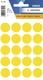 Herma 1871 Vielzwecketiketten - gelb, Ø 19 mm, matt, 100 Stück