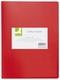 Q-Connect Sichtbuch - 10 Hüllen, Einband PP, 450 mym, rot
