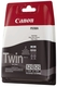 Original Canon Tintenpatrone schwarz pigmentiert Doppelpack (4529B010,4529B010AA,4529B006,525PGBK,PGI-525PGBK)