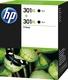 Original HP Druckkopfpatrone schwarz High-Capacity Doppelpack (D8J45AE,301XL,301XLBK,301XLBLACK,NO301XL,NO301XLBK,NO301XLBLACK)